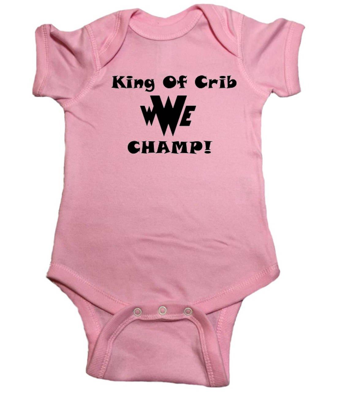 WWE Wrestling King of Crib Champ Bodysuit (24 Months) by QLShops