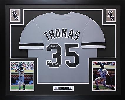 buy popular c714c 4f9fc Frank Thomas Autographed Gray White Sox Jersey - Beautifully ...