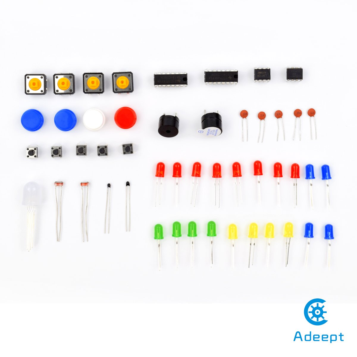 Adeept New Ultimate Starter Learning Kit For Raspberry Wiringpi Pin Numbers B Pi 3 2 Model Python Adxl345 Gpio Cable Dc Motor Computers Accessories