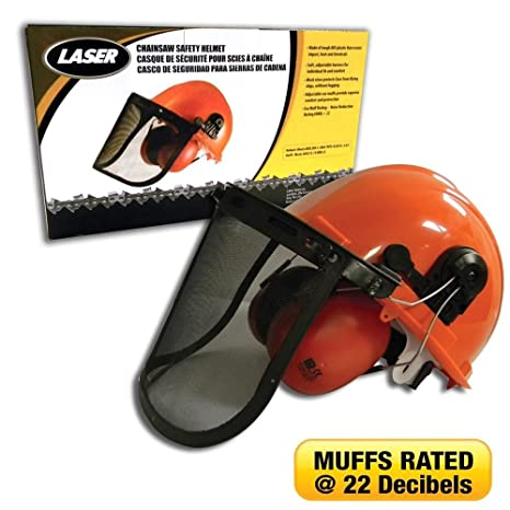 Chainsaw Parts & Accs Chainsaw Safety Kit. Helmet with ear muffs, face shield .