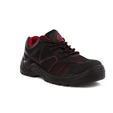 eed46ccde1be Earth Works Safety - Earthworks Mens Black   Red Lace Up Safety Shoe - Size  4