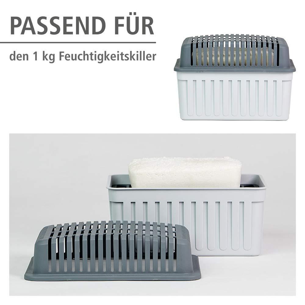 16 x 4 x 11 cm Nachf/üllpackung f/ür Raumentfeuchter 3 x 1 kg WENKO Nachf/üllpack f/ür Luftentfeuchter Wei/ß Calciumchlorid