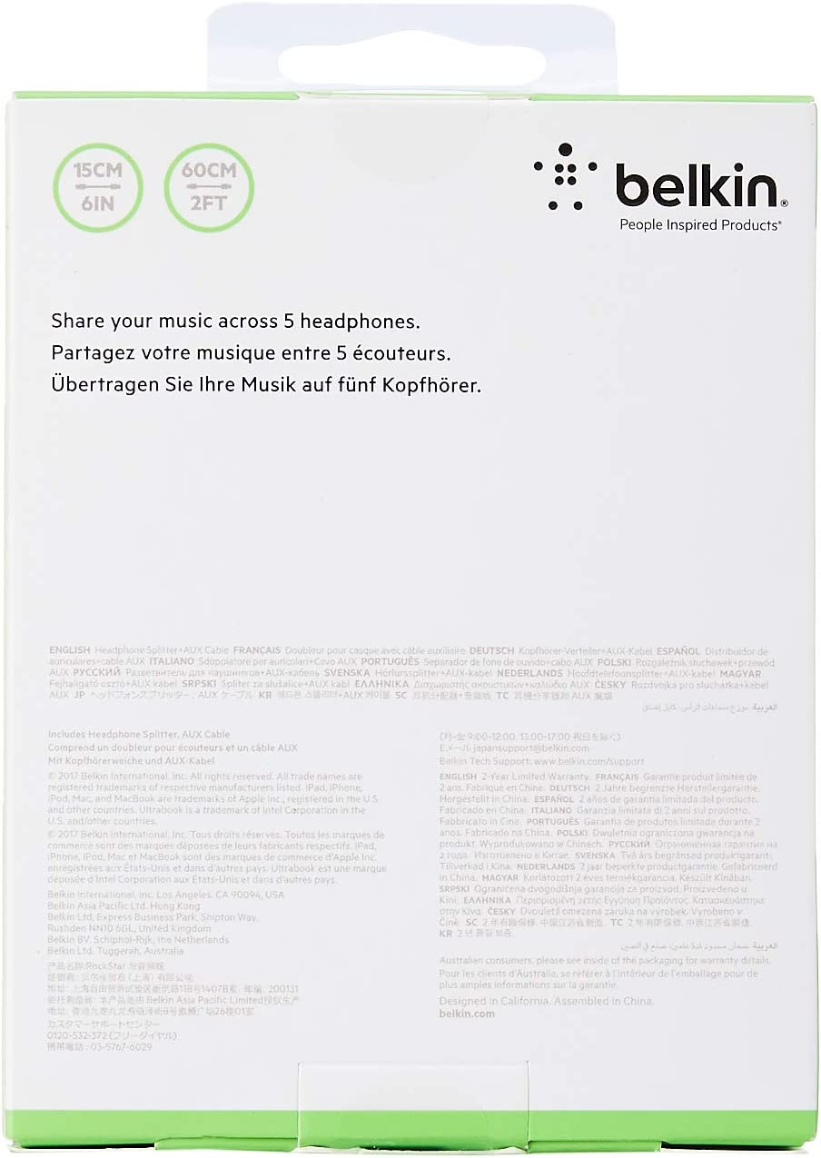 Belkin Rockstar Audiosplitter Schwarz Elektronik