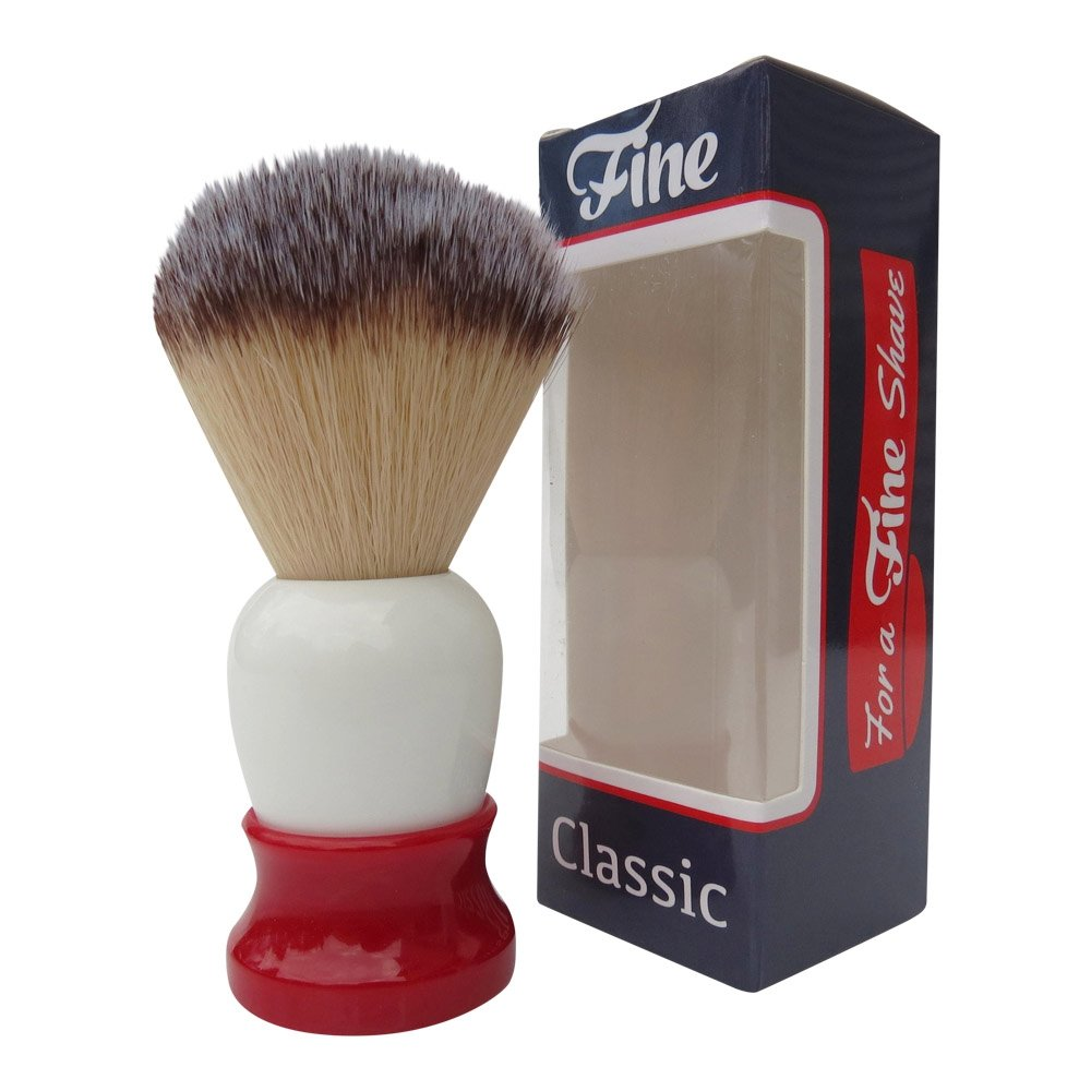 "Fine ""Classic"" Shaving Brush (Red & White)"