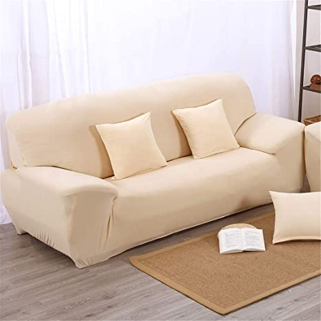 Amazon.com: Solid Color Sofa Set Large Elastic Sofa Cover ...