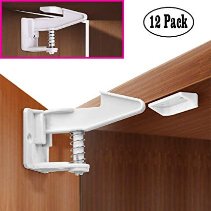 Child Cabinet LocksInvisible Design Baby Proof Safety Locks for Cabinets