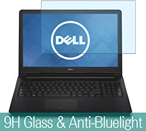 """Synvy Anti Blue Light Tempered Glass Screen Protector for Dell Inspiron 15 5000 (5558) 15.6"""" Visible Area 9H Protective Screen Film Protectors"""
