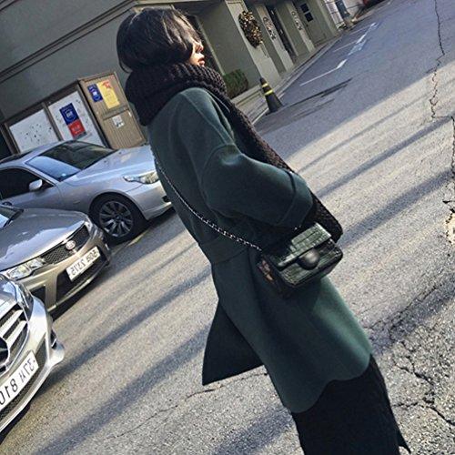 Abrigo Parka Invierno Chaqueta Casual La YAANCUN Coreano Imagen Como Mujer 1 Lana De Estilo Solapa TAIvSXq