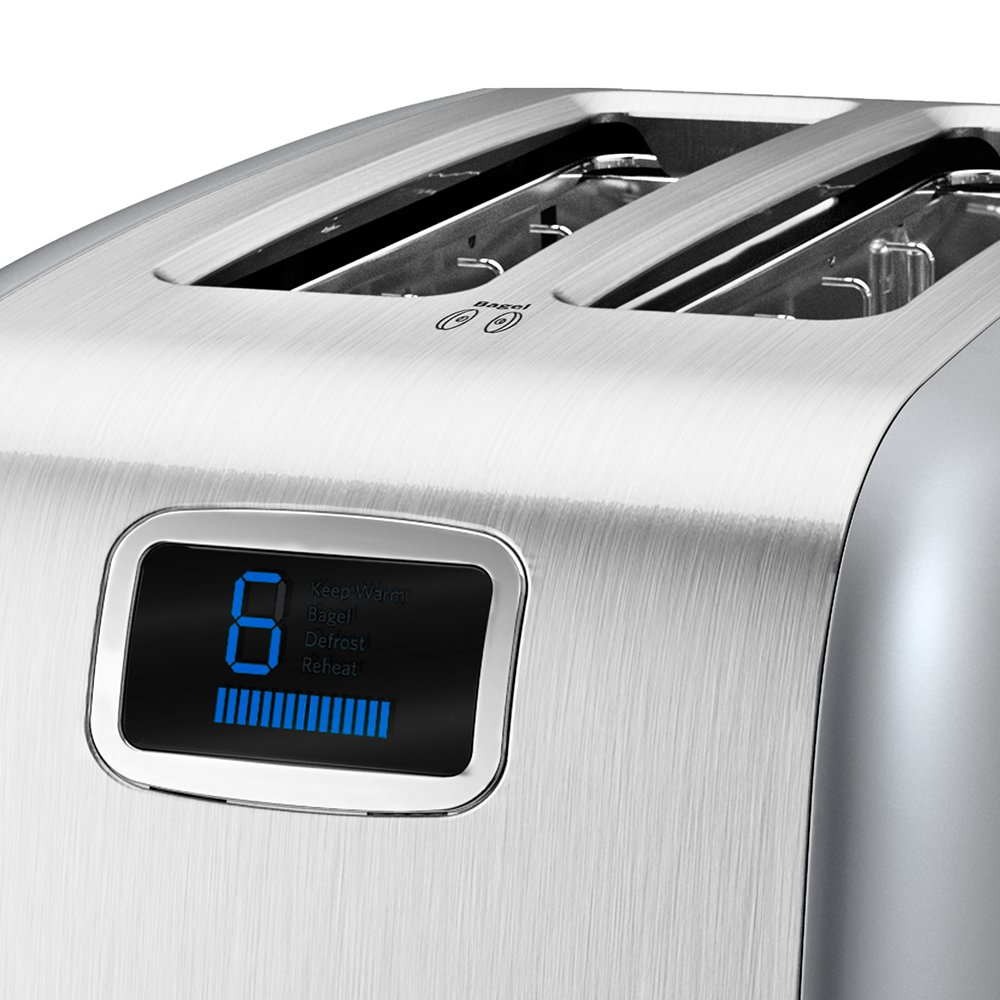 KitchenAid KMT223 2-Slice Toaster with One-Touch Lift Lower and Digital Display – Silver