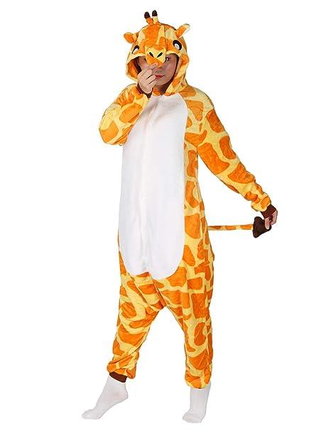 8d70fc0439 Mescara Pigiama Giraffa Cosplay Unisex Animale Costume Halloween Carnevale  Festa Party Sleepwear: Amazon.it: Abbigliamento