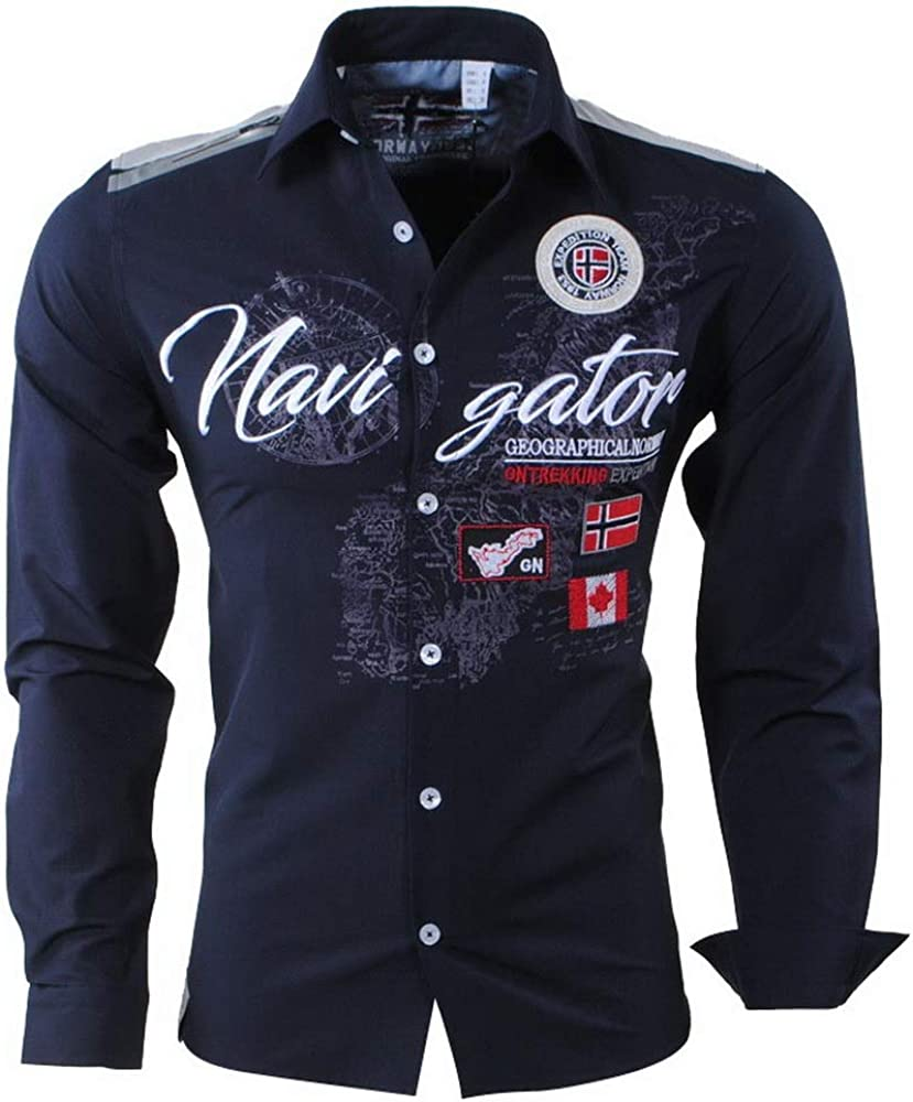 Geographical Norway - Camisa Casual - para Hombre Azul S ...