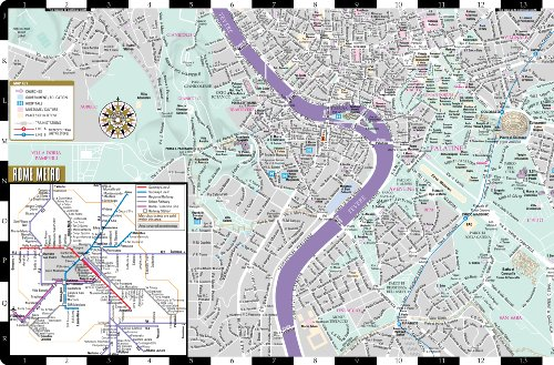 Streetwise Rome Map - Laminated City Center Street Map of Rome, Italy - Folding pocket size travel map with metro map, subway
