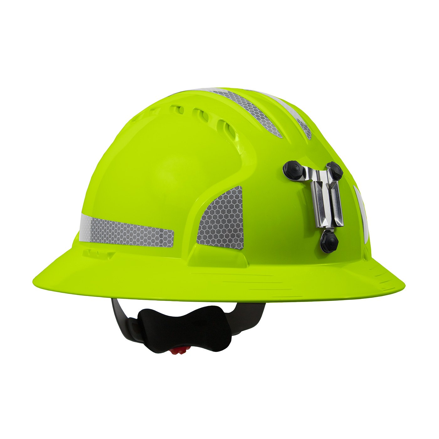 JSP 280-EV6161MCR2-LY Evolution Deluxe 6161 Full Brim Mining Hard Hat with CR2 Reflective Kit