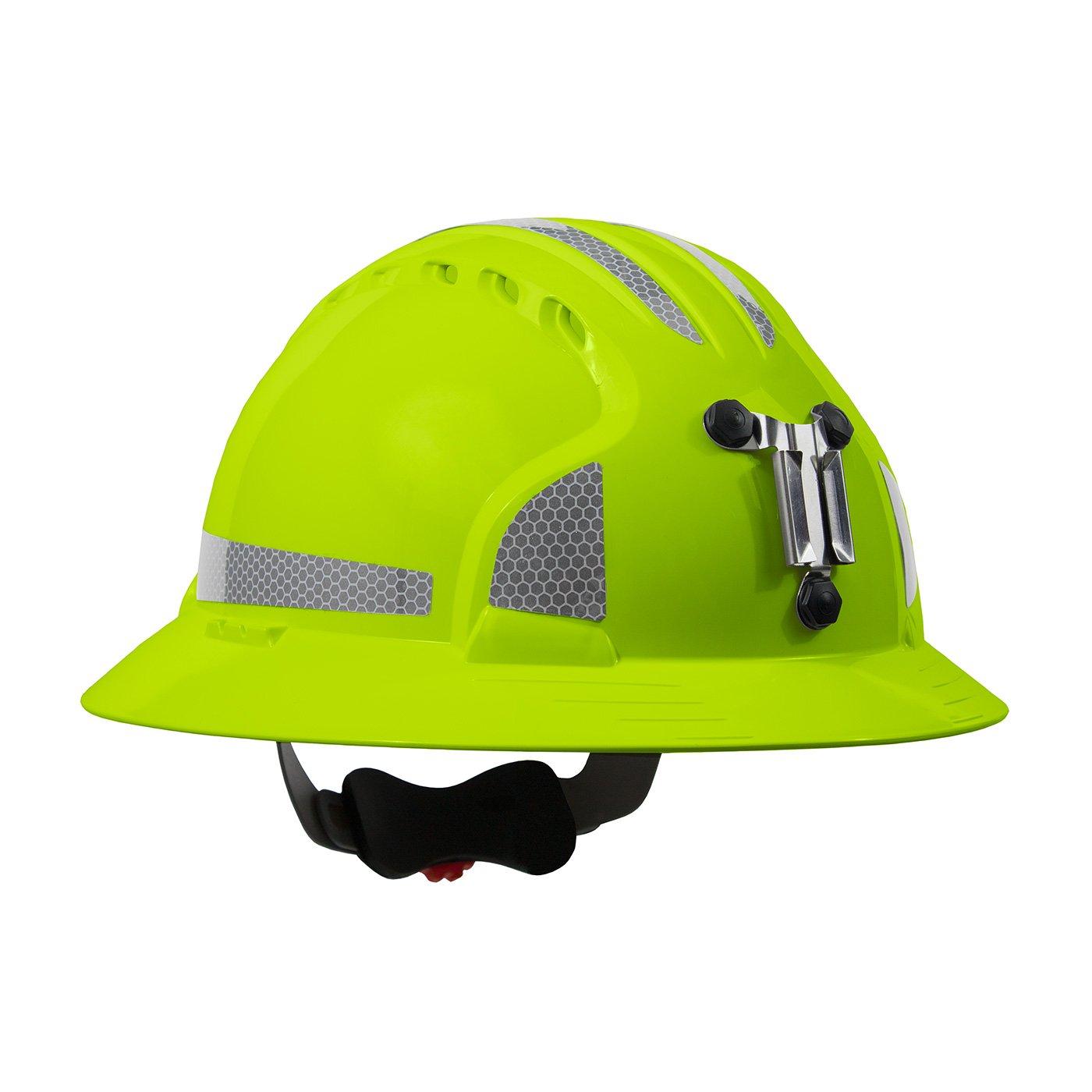 JSP 280-EV6161MCR2-LY Evolution Deluxe 6161 Full Brim Mining Hard Hat with CR2 Reflective Kit by JSP (Image #1)