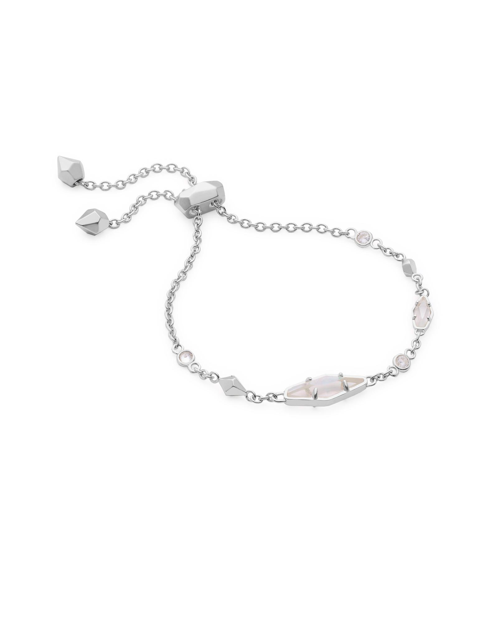 Kendra Scott Deb Adjustable Chain Bracelet (Rhodium)
