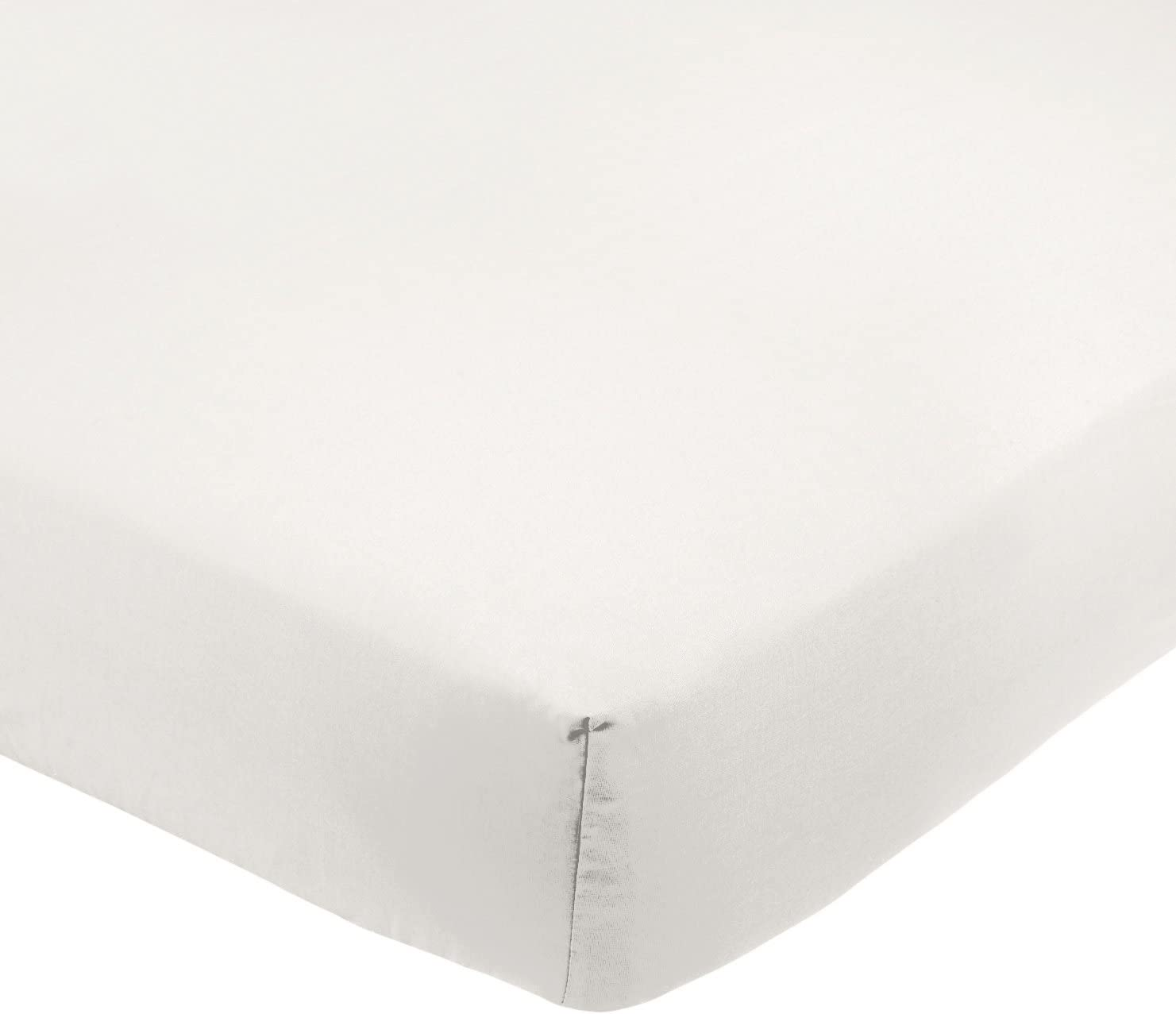 "Double Fitted Sheet Cream 8/"" Deep Polycotton 150 Thread Count"