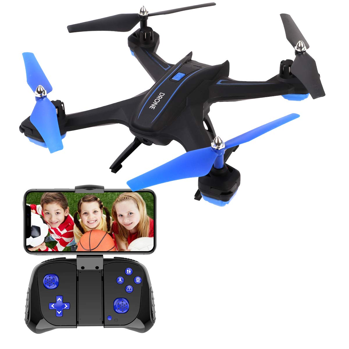 GILOBABY FPV RC Drone with 720P HD Camera Live Video 2.4GHz 6-Axis Gyro Quadcopter for Kids & Beginners - Headless Mode, Altitude Hold, One Key Return best drone cameras