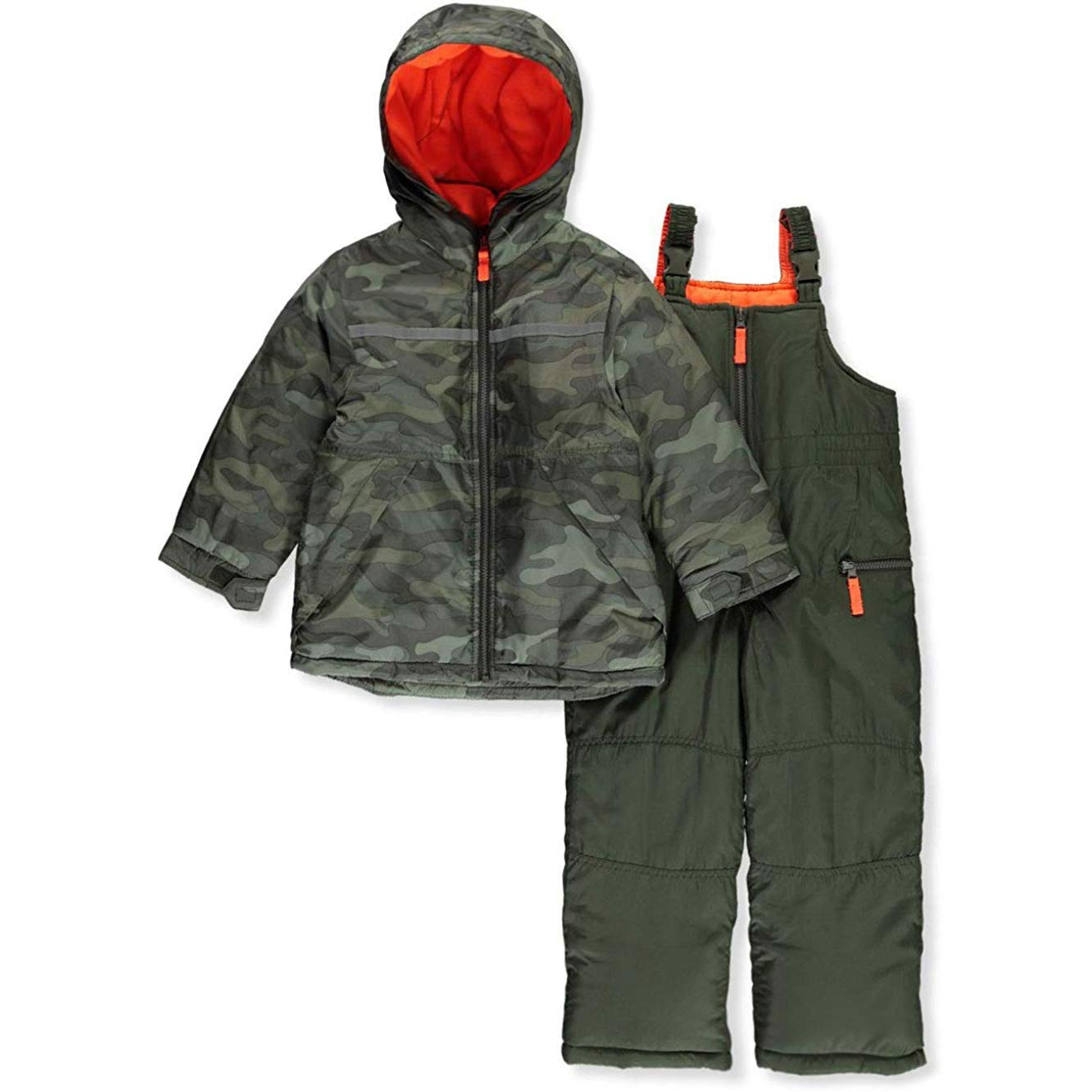 Carter's Baby Boys Heavyweight 2-Piece Skisuit Snowsuit, Olive Camo, 18 Months by Carter's