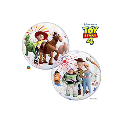 "Qualatex 92612 22"" Toy Story 4 Bubble Balloon, Multicolor: Kitchen & Dining"