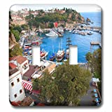 3dRose Danita Delimont - Cities - Turkey, Antalya, Southwest Mediterranean coast with Taurus Mountains. - Light Switch Covers - double toggle switch (lsp_277008_2)