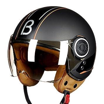 Off-Roady Cascos de Moto Vintage Jet Ruby Casco de Protección Gears 3/4 Casco de Media Vespa ECE Dot Open Face Capacete: Amazon.es: Deportes y aire libre