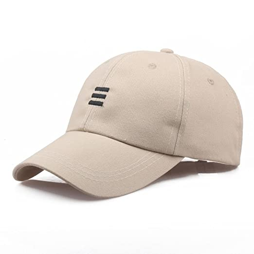 45f49a0ff8f Baseball Cap Men Women - Classic Cotton Dad Hat Plain Cap Low Profile  (Beige)