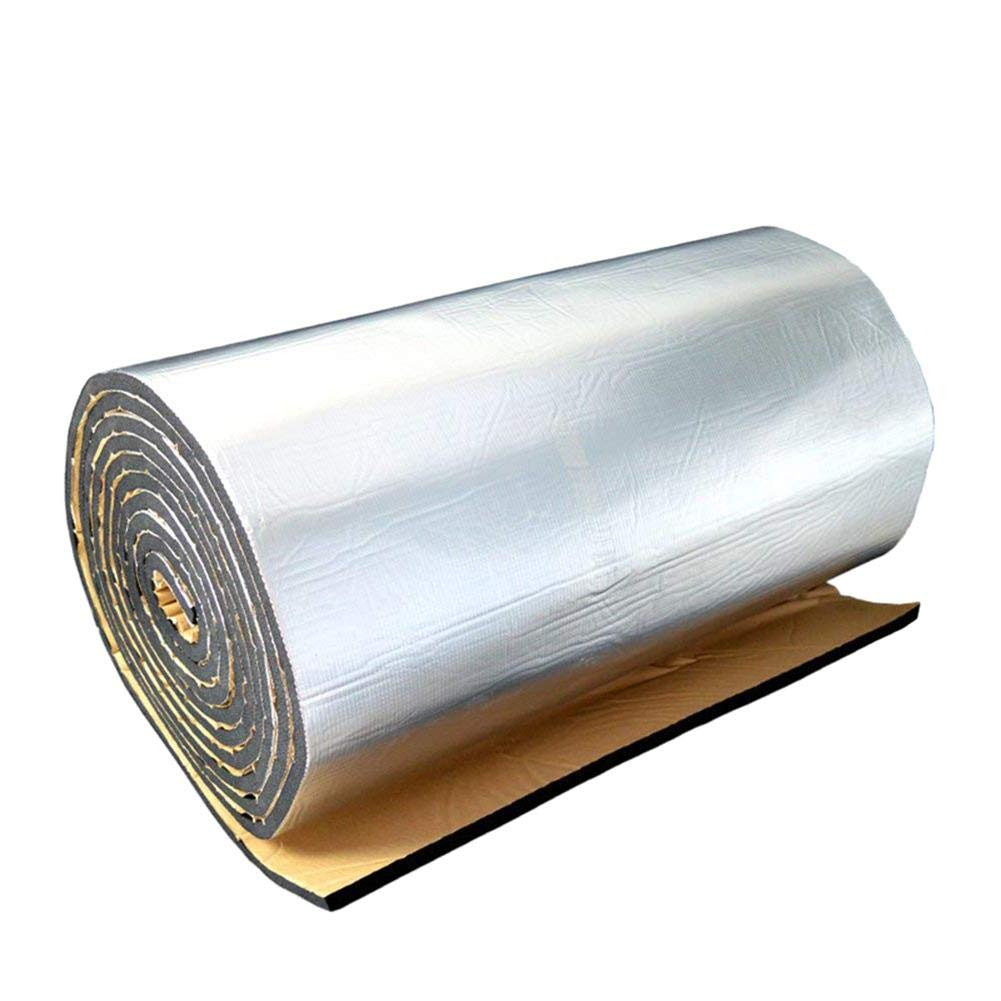 Lorchwise 10MM Sound Insulation Pad Aluminum Film - Waterproof Moisture-Proof Slow Down Ageing Wide Application 4040 Inches