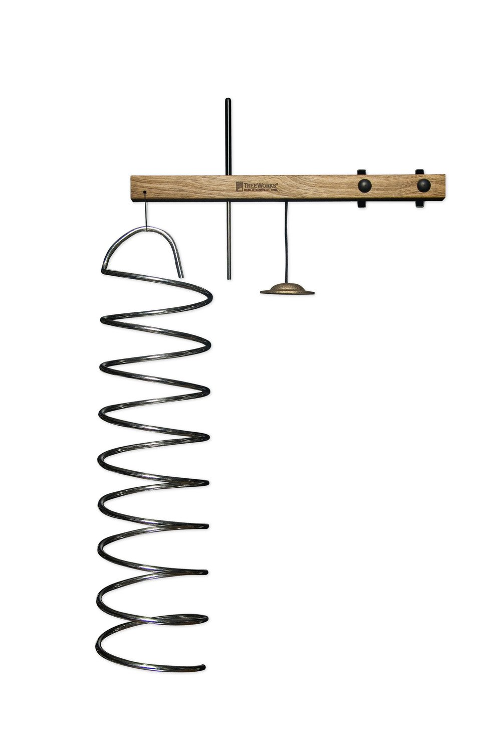 TreeWorks Chimes TREcoil Made in USA 1/4'' Aluminum SpringTree Coil with Finger Cymbal and Light Triangle Beater (VIDEO)
