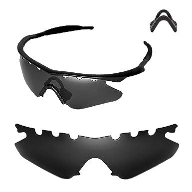 f80051c7d6 walleva antidestellos lentes de reemplazo o lentes con negro ajustables  para Oakley M Frame Heater gafas de sol - 21 opciones disponibles, Black +  Nosepad: ...