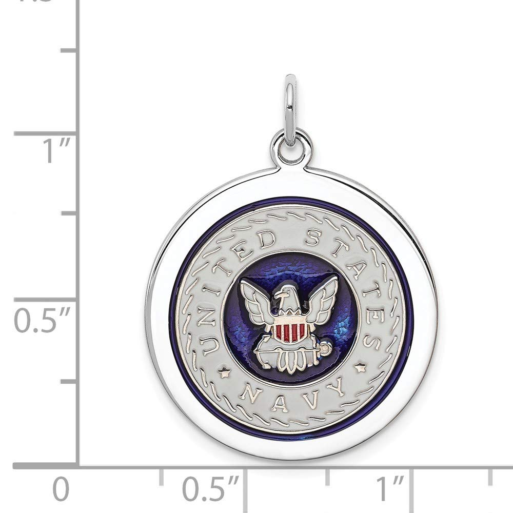 Roy Rose Jewelry Sterling Silver US Navy Disc