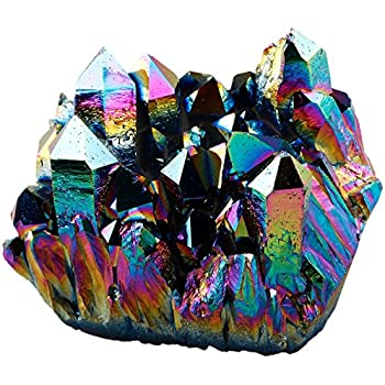 Amazon.com: SUNYIK Rainbow Aura Titanium Coated Crystal