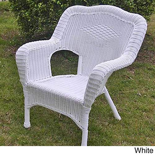 International Caravan Furniture Piece Camelback Resin Wicker Patio Chairs (Set of 2) (Wicker Resin Chairs)