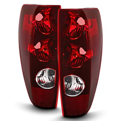 ACANII - For 2004-2012 Chevy Colorado GMC Canyon Pickup Truck Tail Lights Brake Lamps Assembly Driver & Passenger Side: Automotive