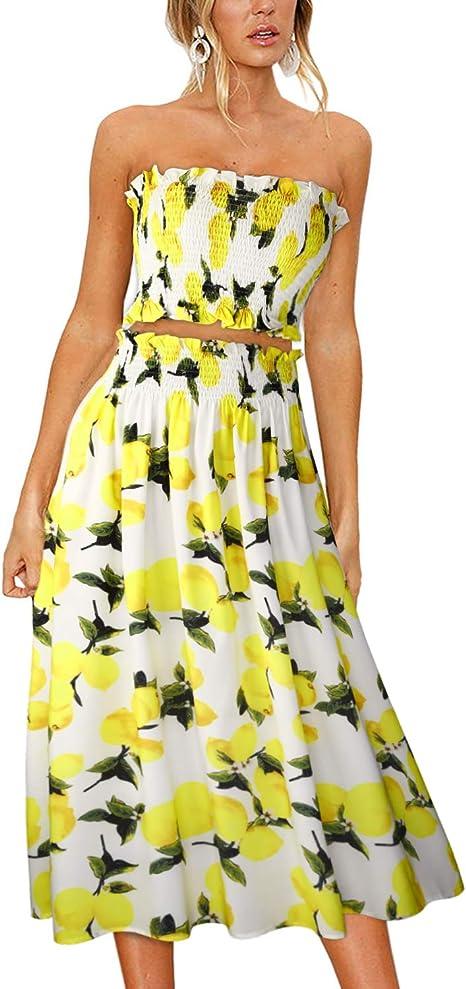 Amazon.com: ULTRANICE - Vestido de mujer con estampado ...