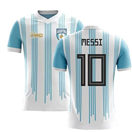 3d3a6be9b Amazon.com   Airosportswear 2018-2019 Argentina Home Concept Football  Soccer T-Shirt Jersey (Lionel Messi 10)   Sports   Outdoors