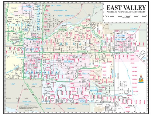 East Valley Arterial and Collector Streets Notebook Map Gloss Laminated - 10 - Gilbert Tan San