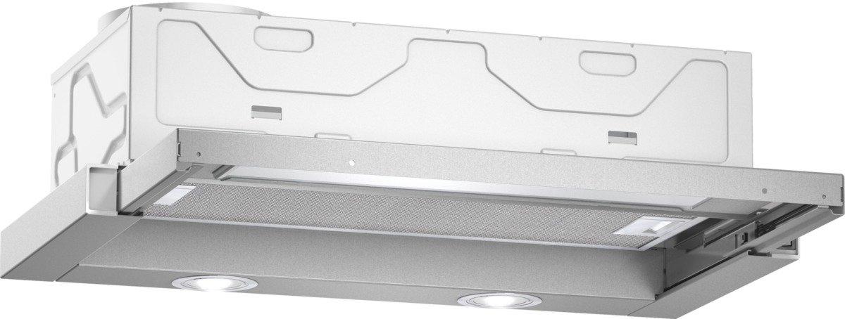Neff DBR4612X Dunstabzugshaube aus Edelstahl, Flachschirmhaube, Abluft- oder Umluftbetrieb [Energieklasse C] D46BR12X0