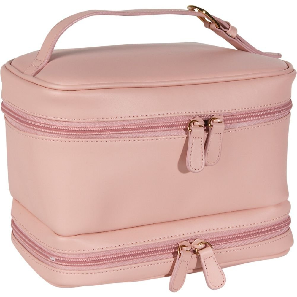 Royce Leather Ladies Cosmetic Travel Case (Carnation Pink)