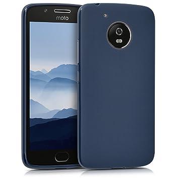 kwmobile Funda para Motorola Moto G5 - Carcasa para móvil en TPU Silicona - Protector Trasero en Azul Oscuro Mate