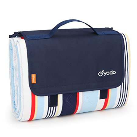 yodo Extra Large Picnic Blanket Tote 79 x 79 , Machine Washable for Family Outdoor Camping Beach Hiking Festivals Concerts