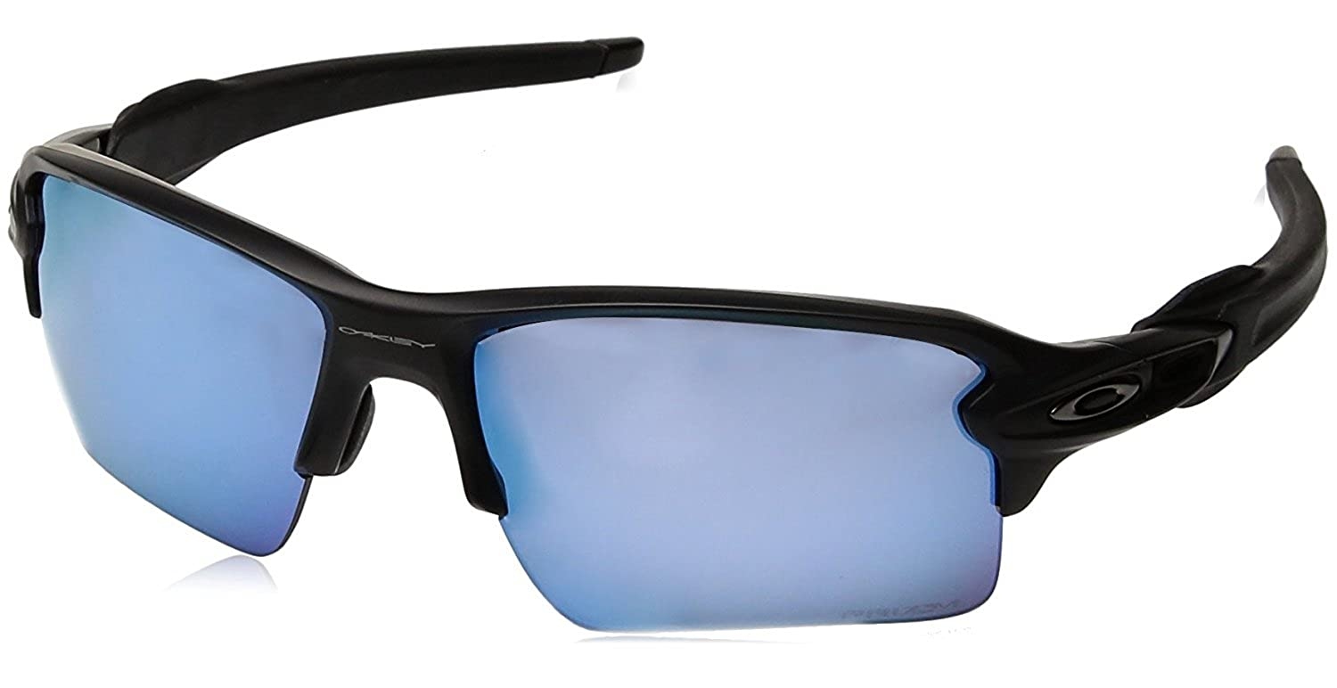 b577ae3269 Amazon.com  Oakley Men s Flak 2.0 XL Polarized Iridium Rectangular  Sunglasses