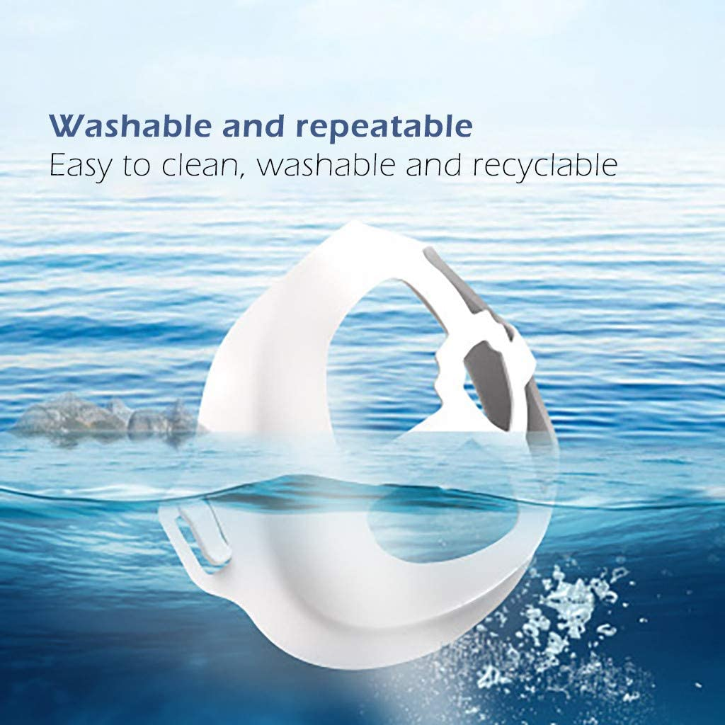 3D Face Inner Bracket for Non-Stick Lipstick Comfortable Breathing Inner Support Frame|Under Frame Lipstick Protector Keep Fabric off Mouth to Create More Breathing Space 25PCS//35PCS