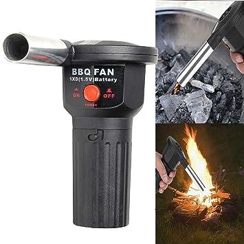 SELUXU Soplador de aire portátil barbacoa Camping batería ...