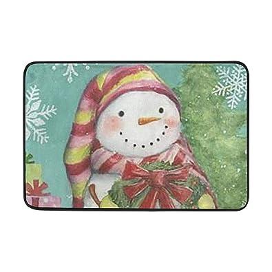 Amazon Com Rabbits And Snowmen Doormat Outdoor Indoor Mats Entrance