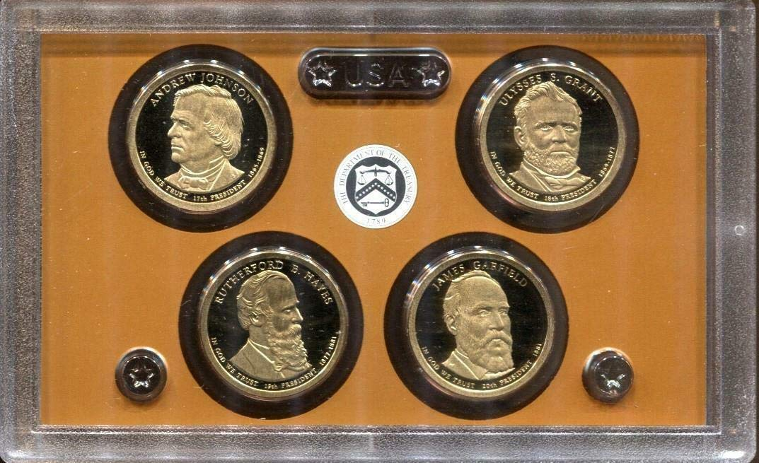 2011 S Presidential Dollar Coin Proof $1 US Mint 4 Golden Dollars No Box