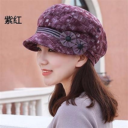 3f28c24ea12 Women ladies Autumn Hat Beret octagonal Cap Hat bonnet peaked cap cap cap  all-match
