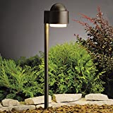 Kichler 15360AZT Path & Spread 1-Light 12V, Textured Architectural Bronze
