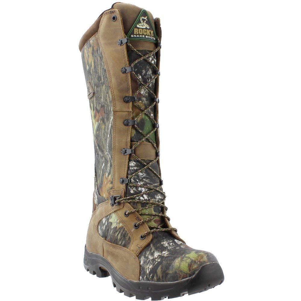 Rocky Men's 16'' Prolight Waterproof Snake Boots, Mossy Oak Break-Up, 8D (Medium)
