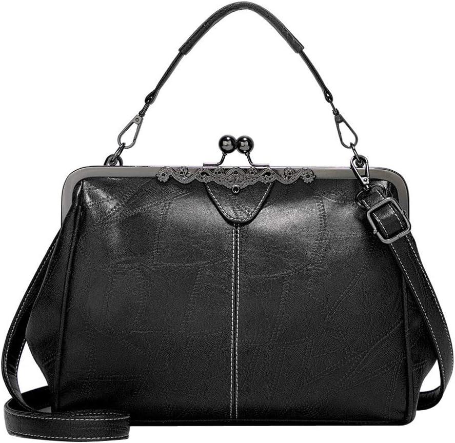 Old-fashioned black handbag