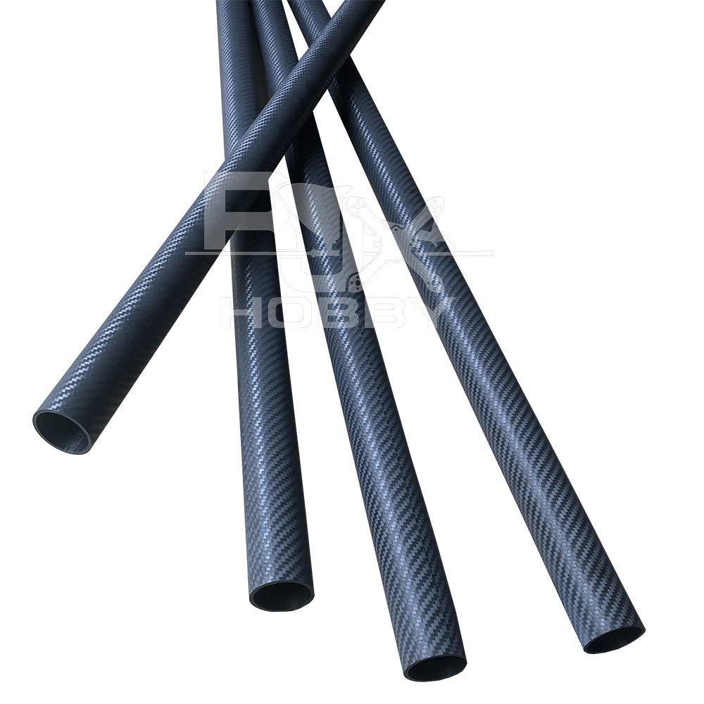 3K Roll Wrapped Matte Surface RJXHOBBY 17mmx15mmx1000mm Carbon Fiber Tube
